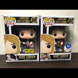 Kurt Cobain Funko Pop Lot